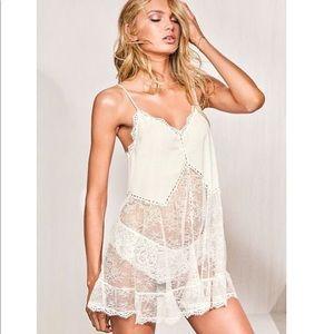 Victoria's Secret Crochet Mini Slip